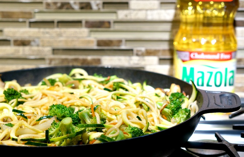 Our version of yaki udon gets a lighter twist with zucchini noodles, lean turkey and the right oil. And, did we mention our Lighter Yaki Udon takes less than 30 minutes to make from start to finish?!