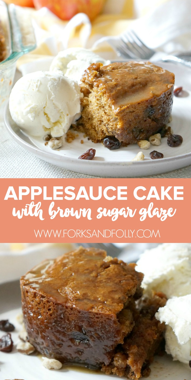 Soul-Healing Applesauce Cake with Brown Sugar Glaze