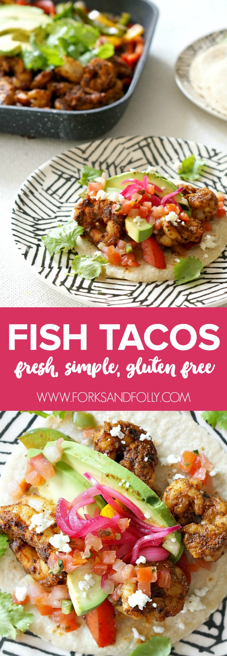 Don't limit tacos to Tuesday!  Our Blackened Fish Tacos are bursting with flavor and color.  Mix and match your favorite seafood and veggies to adapt the recipe to your tastes for any night of the week.