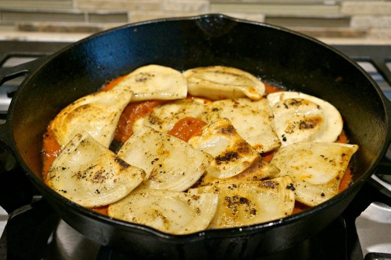 Easy Smoked Ham and Pierogi Skillet