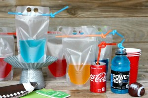 Team Colored Cocktail Pouches