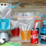 Team Colored Cocktail Pouches and More Football Viewing Party Tips