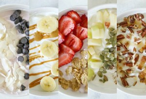 These 5 Wake-Up Worthy Greek Yogurt Breakfast Bowls make getting up early in the morning totally worth it.  I think my fave might be the Maple Bacon & Pecan Greek Yogurt Breakfast Bowls.  What about yo