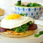 Roasted Veggie Waffle Sandwich for Breakfast… and Beyond