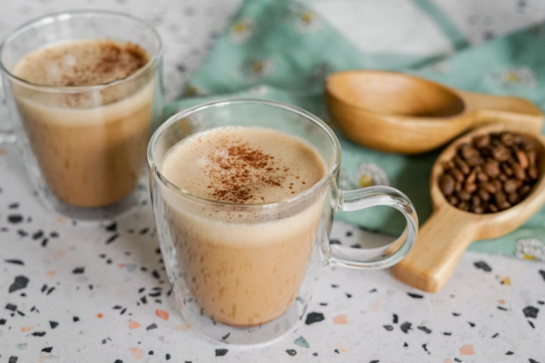 Brighten up your work-at-home afternoon with Cinnamon Coconut Latte, reminiscent of your favorite coffee-shop drink.