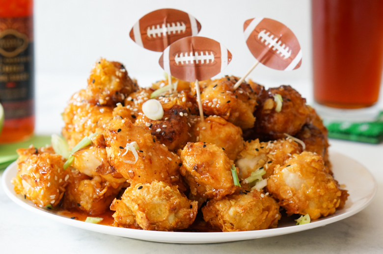 Bring restaurant flavor to your football viewing party with this easy to make Air Fryer Asian Popcorn Chicken recipe, which can be adapted to oven-baking if you don't have an air fryer.