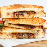 Air Fryer Grilled Cheese with Gouda, Onions & Jam