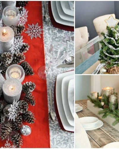 8 diy christmas table decoration ideas forks n flip flops - Christmas Table Decoration Ideas Easy