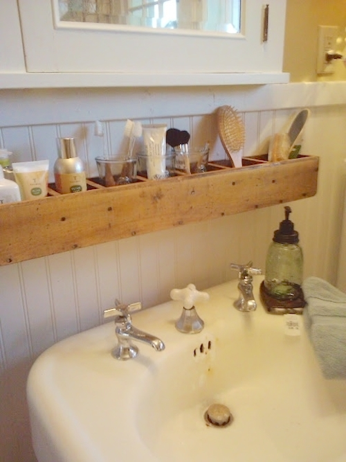 DIY Over the Sink Storage