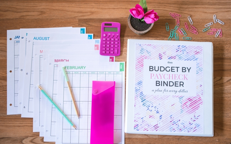 budget by paycheck printable