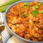 One Pot Cheesy Chili Mac