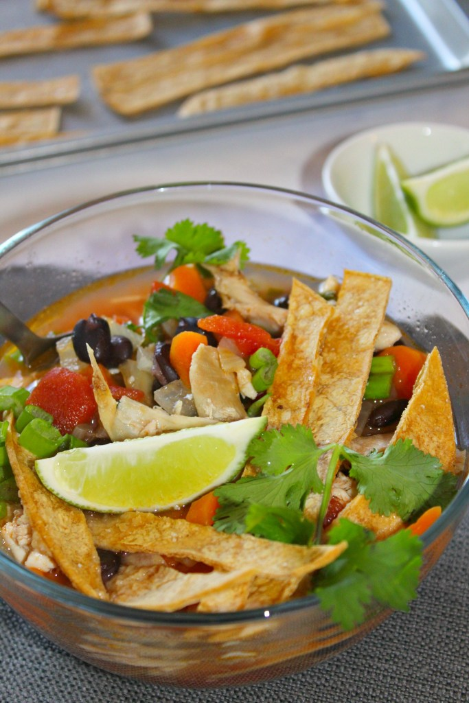 Chicken Poblano Tortilla Soup