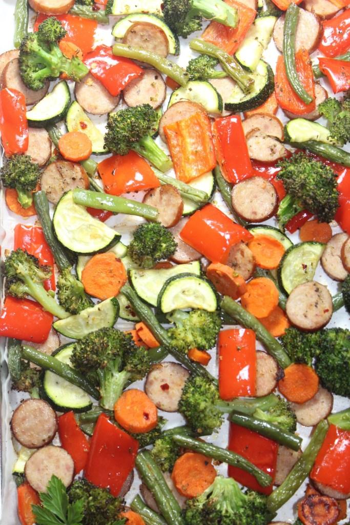 Sheet Pan Sage Sausage & Veggies