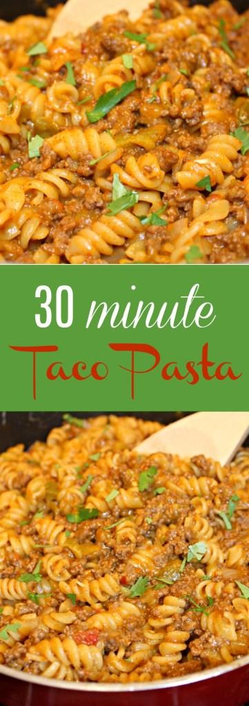 30 Minute Taco Pasta