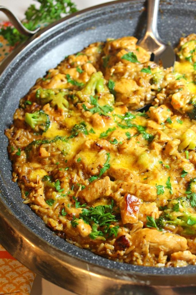 Cheesy Chicken Broccoli and Rice Casserole - Main