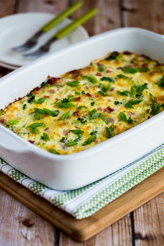 broccoli-ham-mozzarella-egg-bake