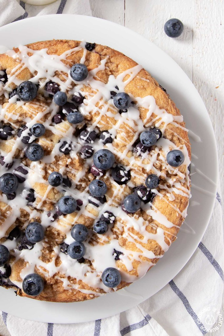 Fresh Blueberry Coffee Cake with Streusel