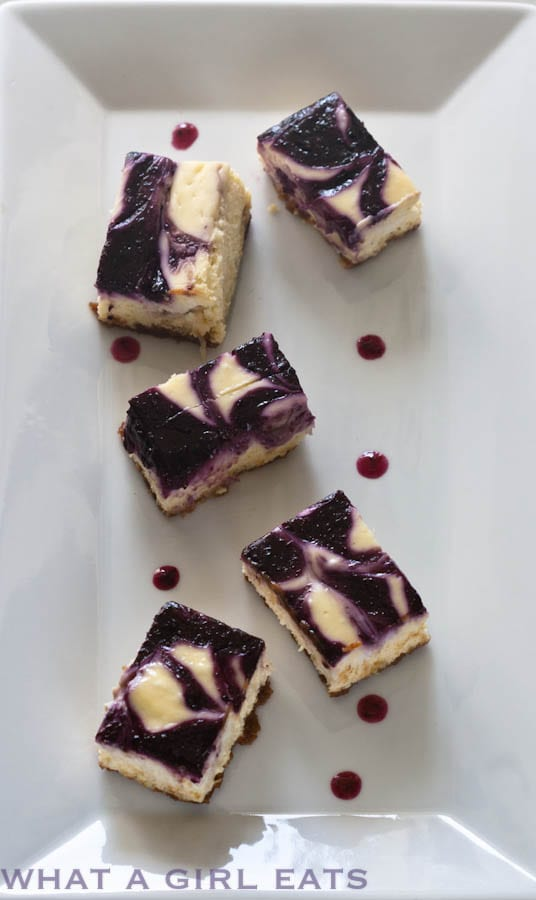Lemon Cheesecake Blueberry Swirl Bars
