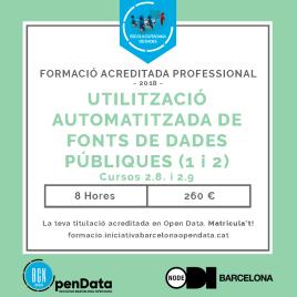 Curs d'Utilització Automatitzada de Fonts de Dades Públiques (I i II)
