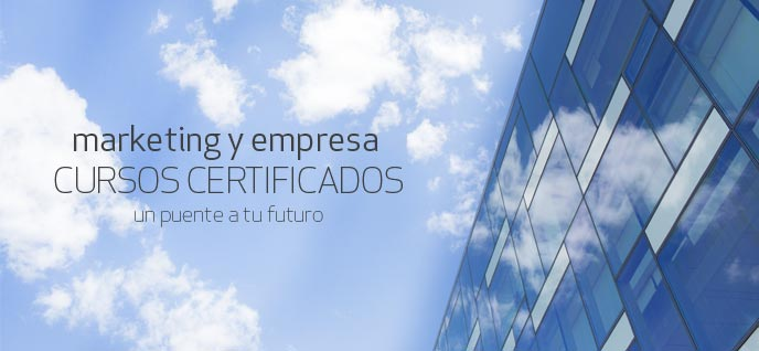 Cursos certificados de marketing, empresa e Internet