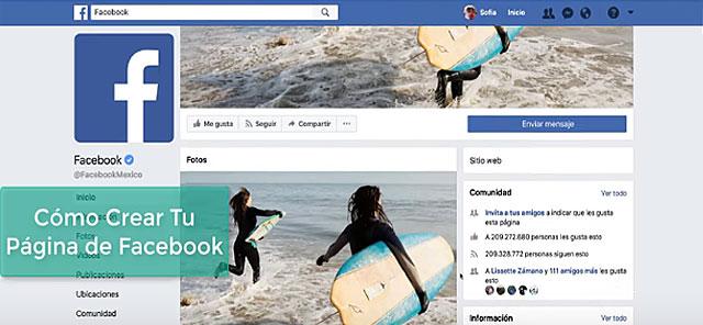 Como crear una página en Facebook para tu Negocio 2018