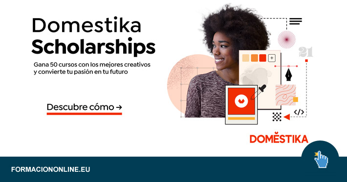 Participa YA en las Domestika Scholarships 2021 y gana 50 cursos