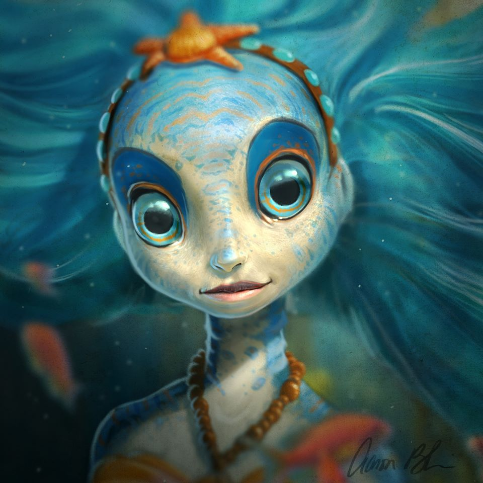 aaron blaise sea nymph character design 1