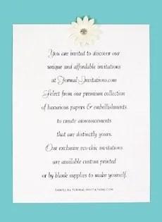 Aqua Invitation 230