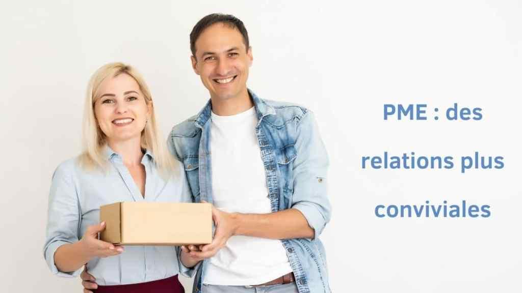 Travailler dans une PME - souvent des relations plus conviviales entre collègues