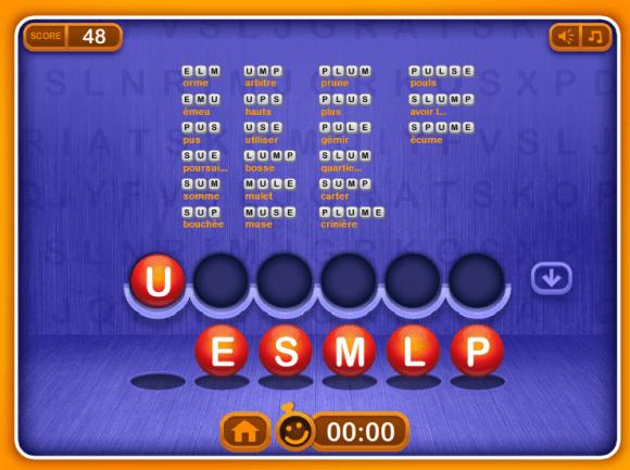 Vérifier l'étendue de votre connaissance du vocabulaire anglais avec le jeu Word Shuffle