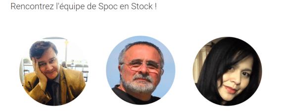 L'équipe de Spoc en Stock : Bernard Lamailloux, Marco Bertolini et Nik Suziana Nik Salleh