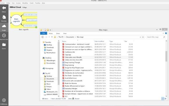 Transfert de vos anciennes cartes mentales XMind vers le Cloud disponible dans la version 7.5 de ce logiciel de mindmapping
