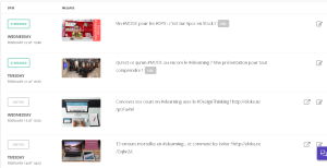 J'ai ajouté deux messages correspondant à de nouveaux articles : ils apparaissent dans la liste des reposts d'Elokenz