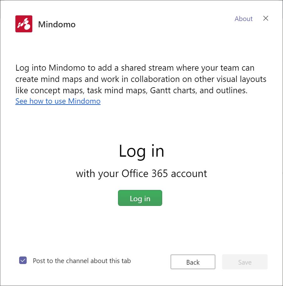 Nouvelle fonctionnalité Mindomo : connexion à vos cartes mentales depuis votre compte Microsoft Teams
