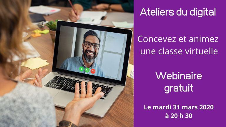 Webinaire gratuit : concevez et animez votre classe virtuelle