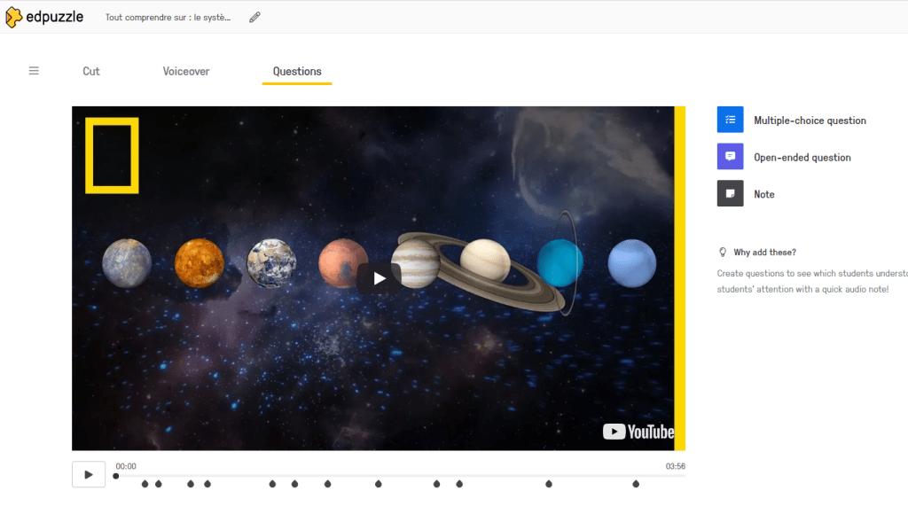Vidéo interactive avec Edpuzzle, une application très simple pour les enseignants