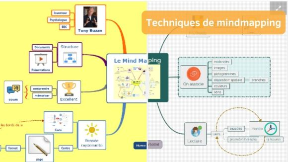 Techniques de Mindmapping - cartes mentales gratuites
