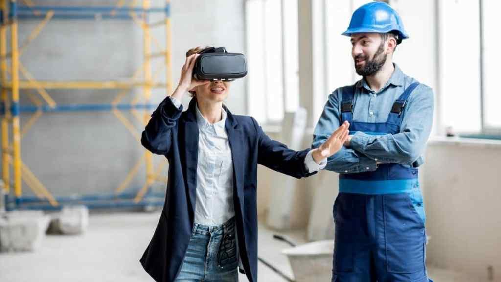 Réalité virtuelle et augmentée en microlearning - sécurité sur un chantier - simulation VR