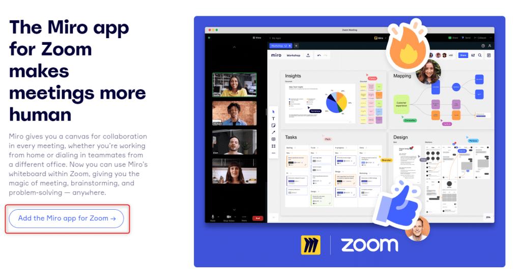Zoom et Miro - ajouter Miro à Zoom