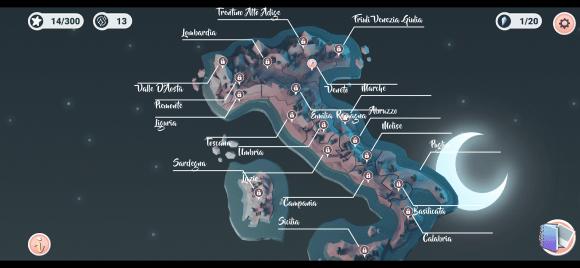 Les 20 régions d'Italie