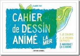 Cahier de dessin animé La mer