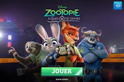Zootopie application pour enfant