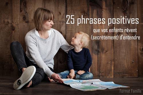 phrases positives enfants parents