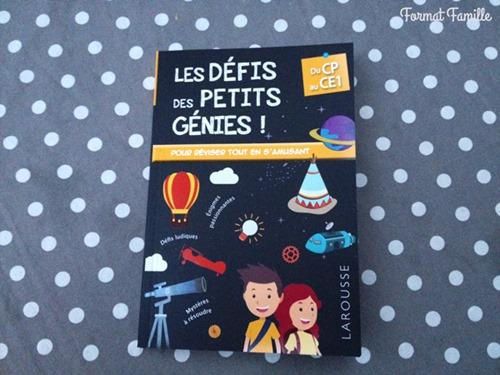 défis des petits génies cahier de vacances
