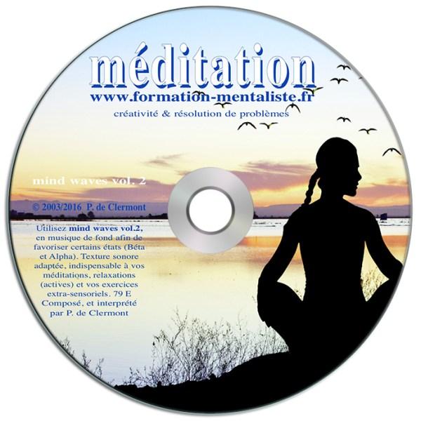 Mentalisme Pascal de Clermont CD Mind Waves 2 MEDITATION visuel