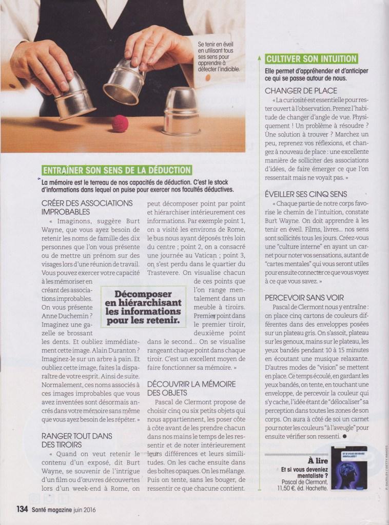 Santé Magazine - Interview du mentaliste Pascal de Clermont - page 4