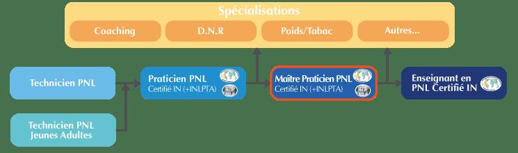Organigramme de la Formation Maître Praticien PNL Suisse