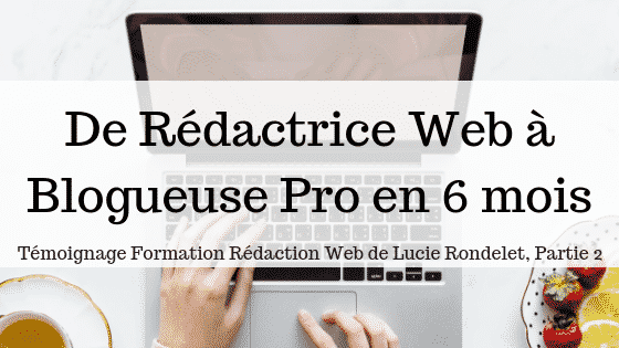 De Rédactrice Web à Blogueuse Pro en 6 mois: Témoignage Formation Rédaction Web (partie 2)