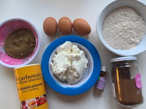 ingrédients cake marbré