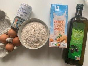 ingrédients pour réaliser des crêpes